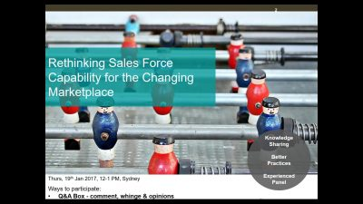 Rethinking Sales Force Capability for the Changing Marketplace